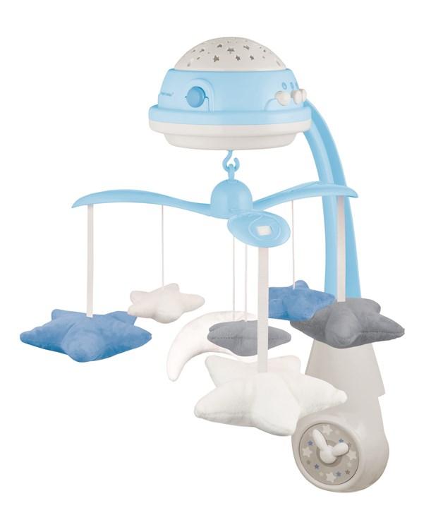 Canpol babies Musical Mobile with Projector  blue zenélő körforgó - Brendon - 22282001