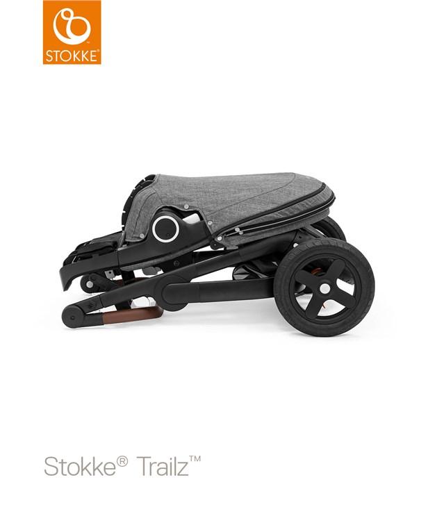 Stokke Trailz & seat Leatherette Terrain Wheels Brushed Grey-Black-Brown babakocsi - Brendon - 22720201