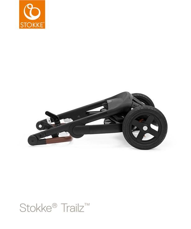 Stokke Trailz & seat Leatherette Terrain Wheels Brushed Grey-Black-Brown babakocsi - Brendon - 22720401