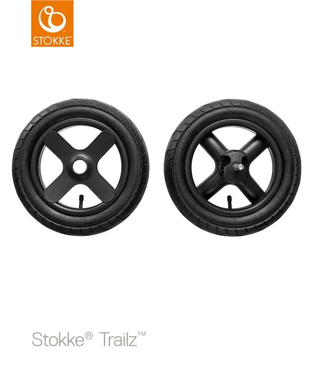 Stokke Trailz & seat Leatherette Terrain Wheels Brushed Grey-Black-Brown babakocsi - Brendon - 22720601