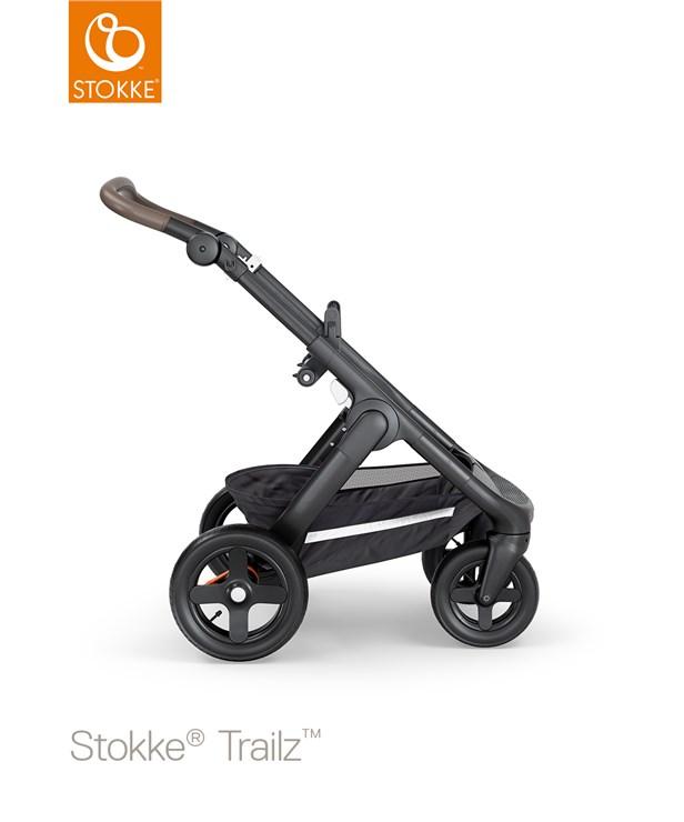 Stokke Trailz & seat Leatherette Terrain Wheels Brushed Grey-Black-Brown babakocsi - Brendon - 22720801