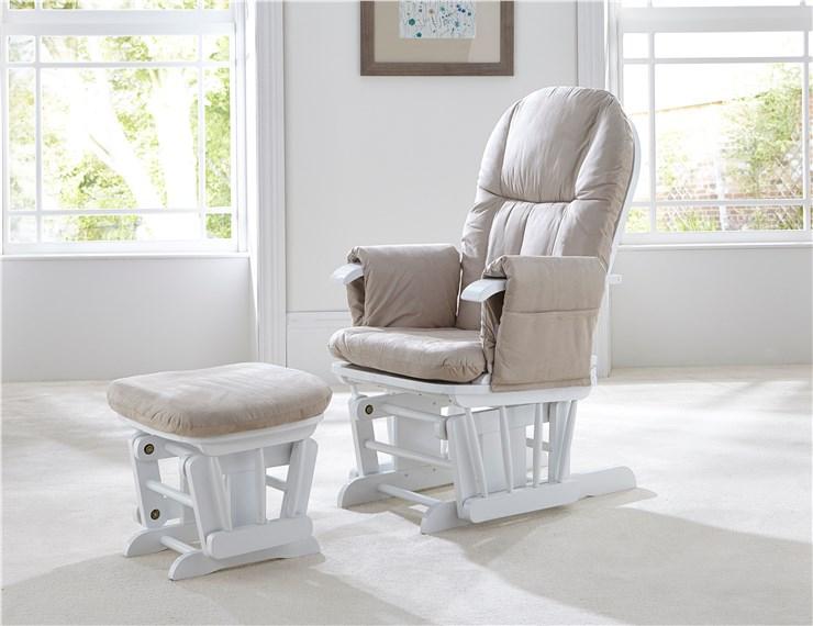 tutti Bambini Recliner Glider White-Cream kreslo na kojenie - Brendon - 22743602
