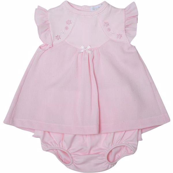 Bluesbaby RR0129/2pcs Pink 56-68 2 részes kislány ruhás garnitúra - Brendon - 22996301