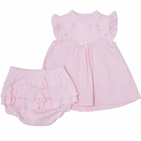 Bluesbaby RR0129/2pcs Pink 56-68 2 részes kislány ruhás garnitúra - Brendon - 22996401