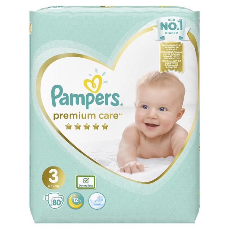 Pampers Premium Care Giant pack S3 Midi 80 pcs  eldobható pelenka - Brendon - 23047401