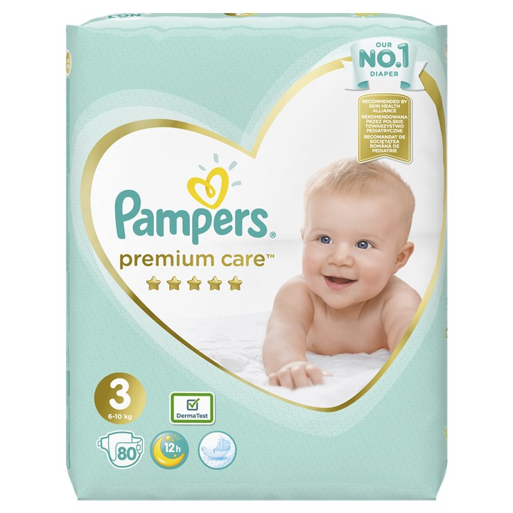 Pampers Premium Care Giant pack S3 Midi 80 pcs  jednorazové plienky - Brendon - 23047402