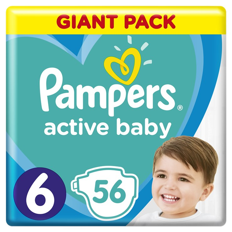 Pampers Active Baby Dry Giant Pack 6 56 Pcs Eldobhat 243
