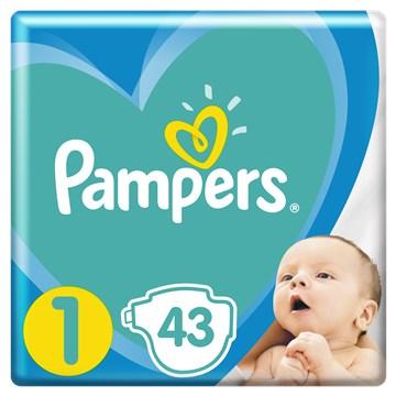 Pampers New Baby-Dry 1, Newborn 2-5 kg 43 pcs  eldobható pelenka - Brendon - 24432001
