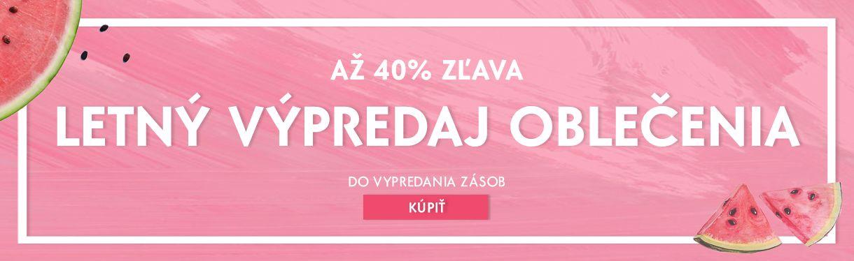Letný výpredaj oblečenia -20-30-40%
